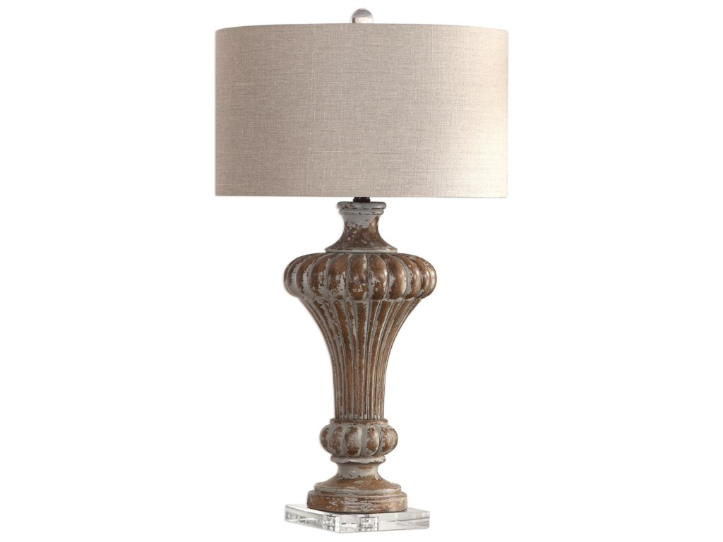 Table Lamps Treneece Aged Pecan Lamp