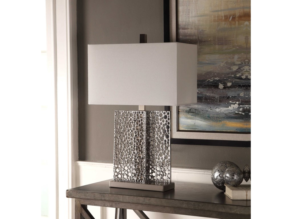 Uttermost Table LampsSicero Polished Silver Lamp