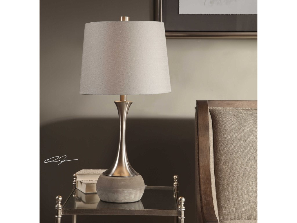 Uttermost Table LampsNiah Brushed Nickel Lamp