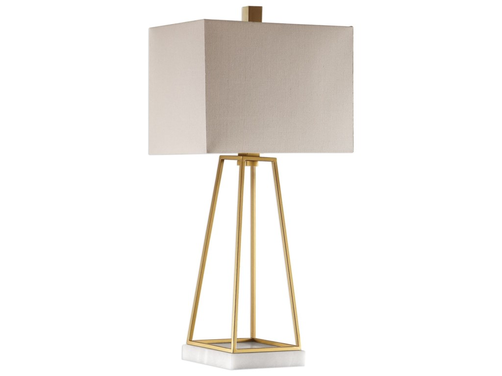 Uttermost Table LampsMackean Metallic Gold Lamp