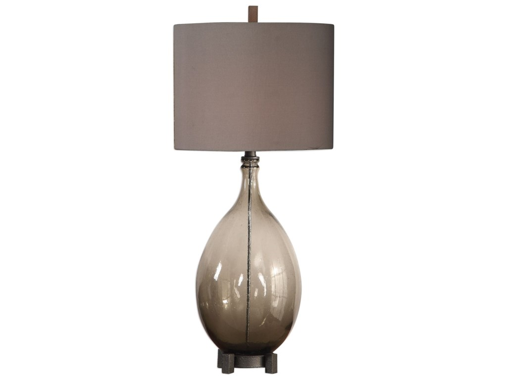 Uttermost Table LampsSaimara Charcoal Glass Lamp