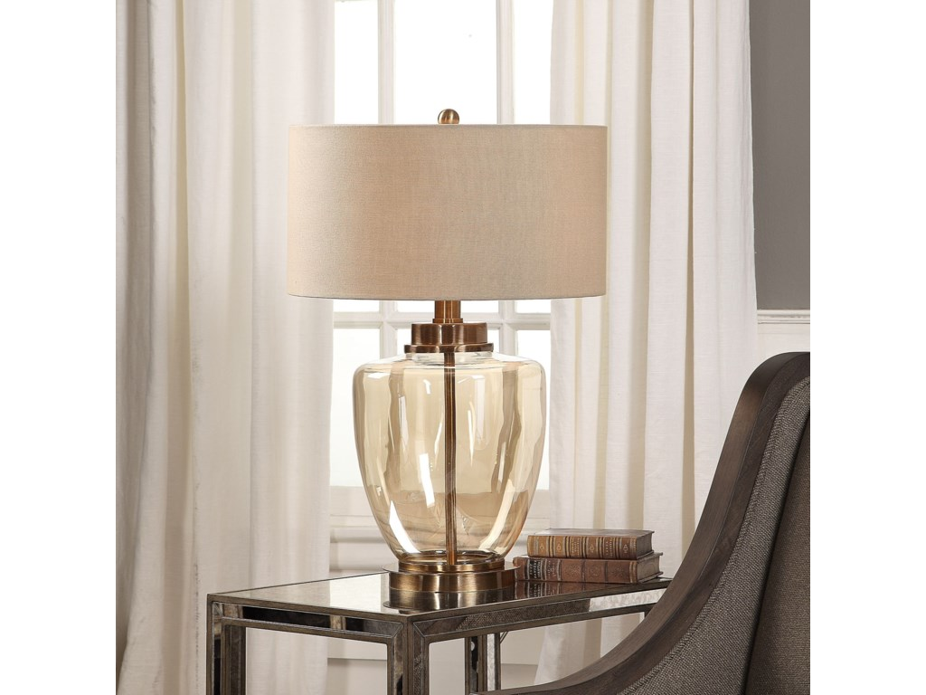 Uttermost Table LampsAmadore Amber Glass Lamp