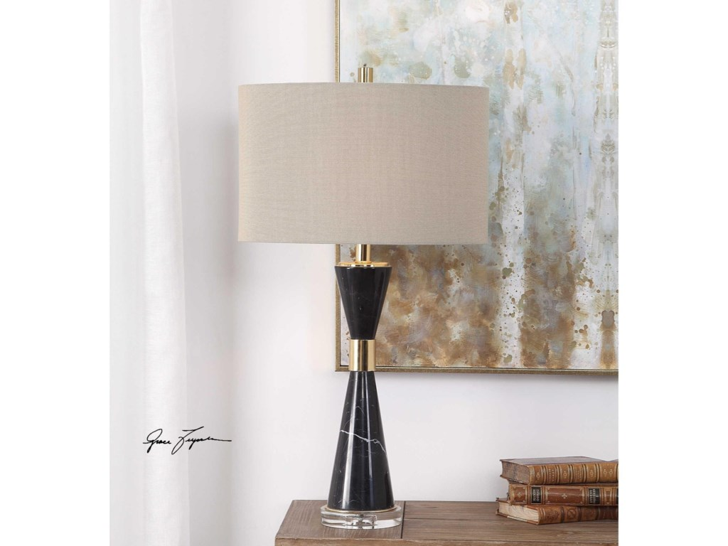 Uttermost Table LampsAlastair Black Marble Table Lamp