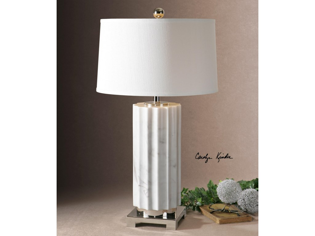 Uttermost Table LampsCastorano White Marble Lamp