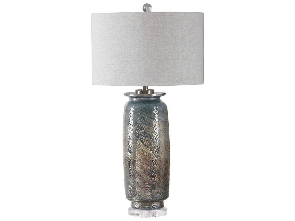 Uttermost Table LampsOlesya Swirl Glass Table Lamp