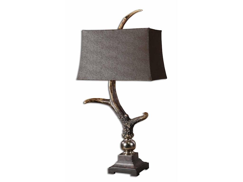 Uttermost Table LampsStag Horn Dark Shade