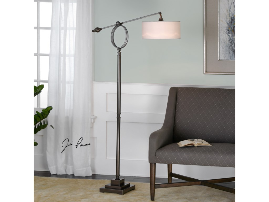 Uttermost Floor LampsLevisa Brushed Bronze Floor Lamp