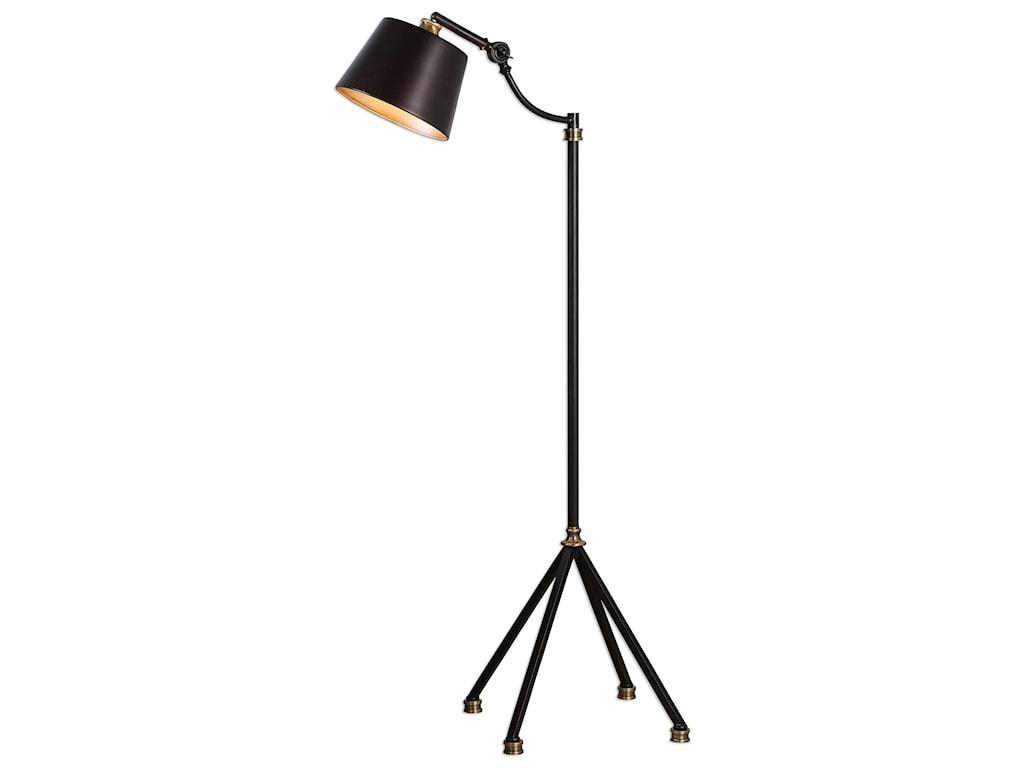 Floor Lamps Marias Black Metal Lamp By Uttermost At Hudson S Furniture