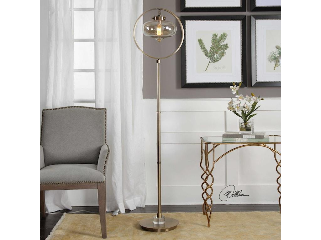 Uttermost Floor LampsNamura Edison Globe Floor Lamp