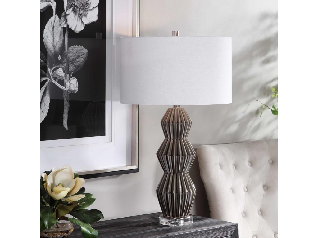 Uttermost Table LampsMaxime Smokey Gray Table Lamp