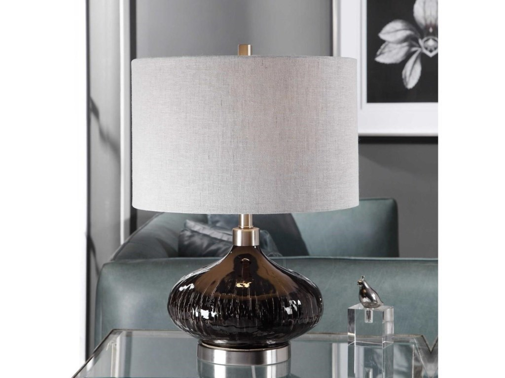 Uttermost Table LampsAmpara Deep Charcoal Table Lamp