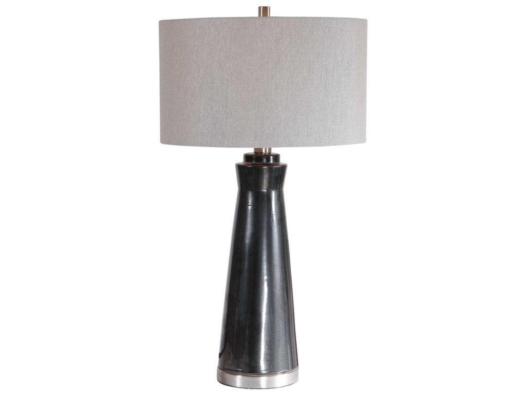 Uttermost Table LampsArlan Dark Charcoal Table Lamp