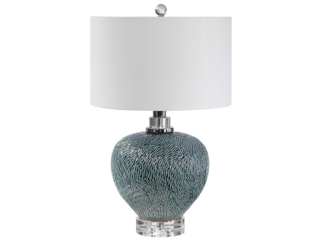 Uttermost Table LampsAlmera Dark Teal Table Lamp