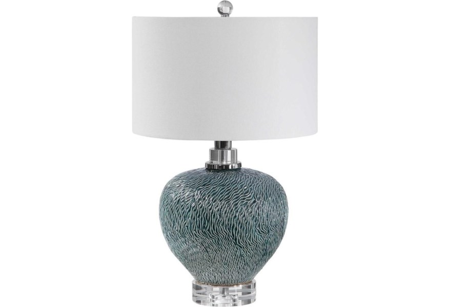 Table Lamps Almera Dark Teal Lamp