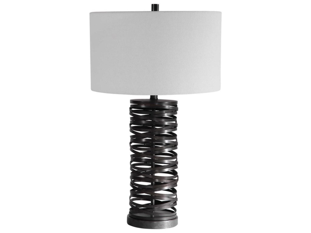 Uttermost Table LampsAlita Rust Black Table Lamp