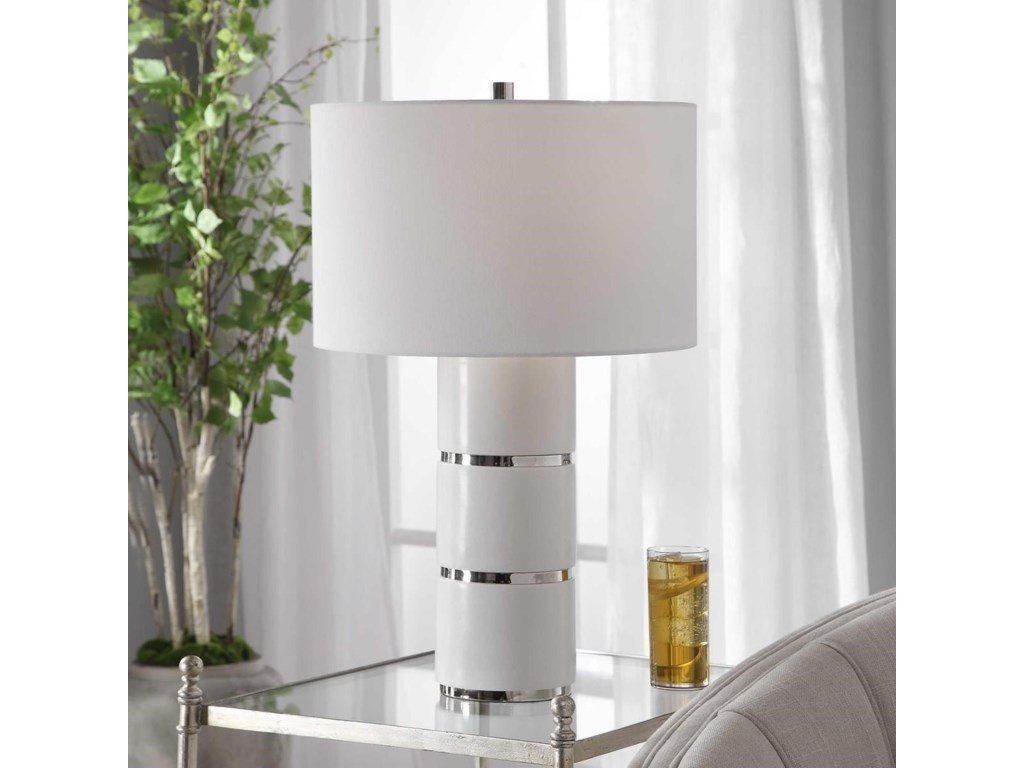 Uttermost Table LampsGrania White Marble Table Lamp