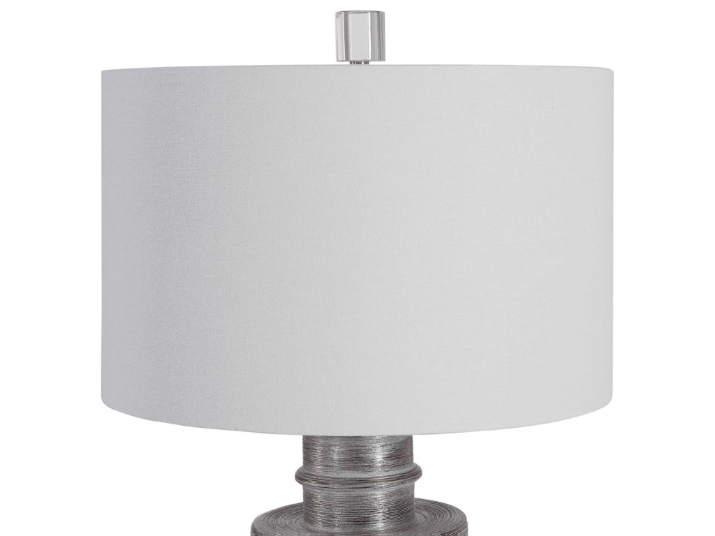 Uttermost Table LampsAnitra Metallic Silver Table Lamp