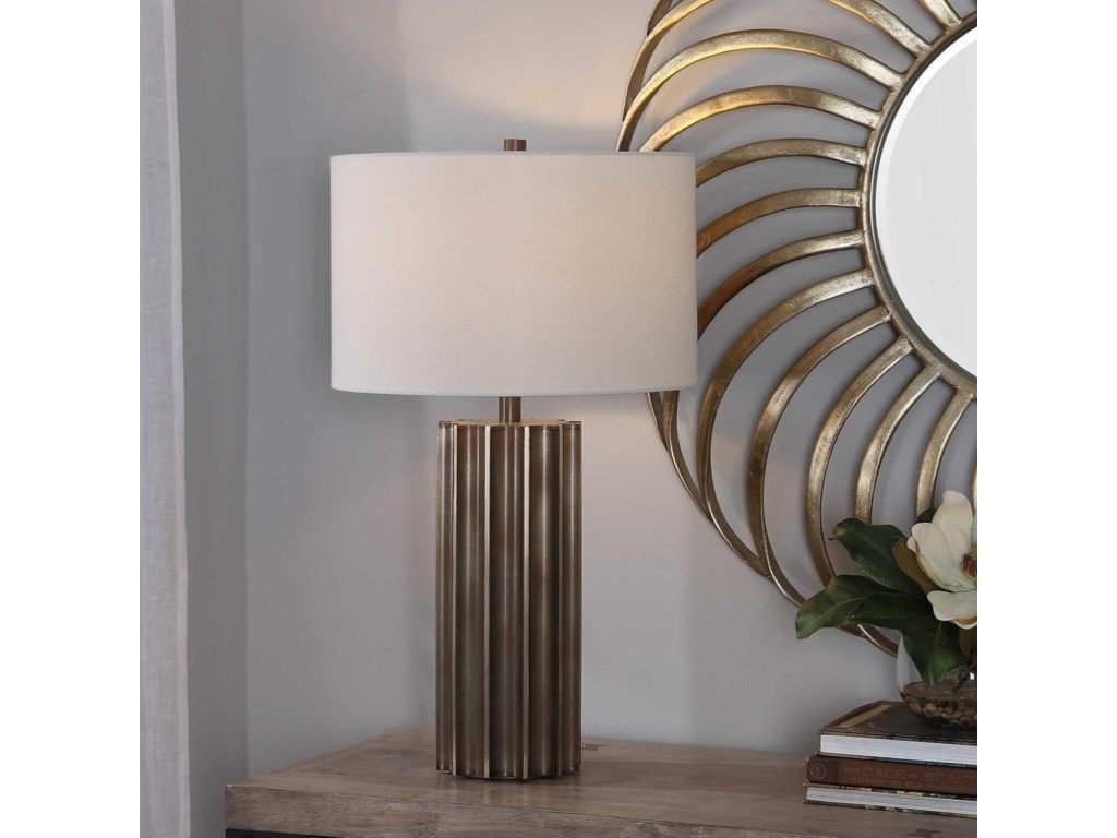 Uttermost Table LampsKhalio Gun Metal Table Lamp