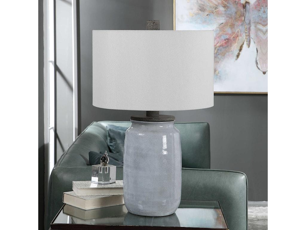 Uttermost Table LampsDimitri Light Blue Table Lamp