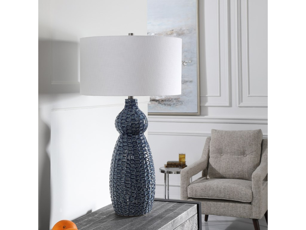 Uttermost Table LampsHolloway Cobalt Blue Table Lamp