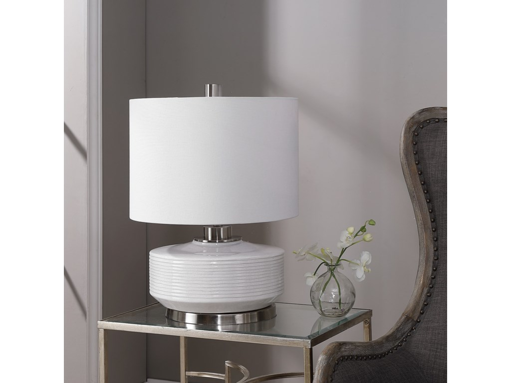 Uttermost Table LampsSailor Stripe White Table Lamp