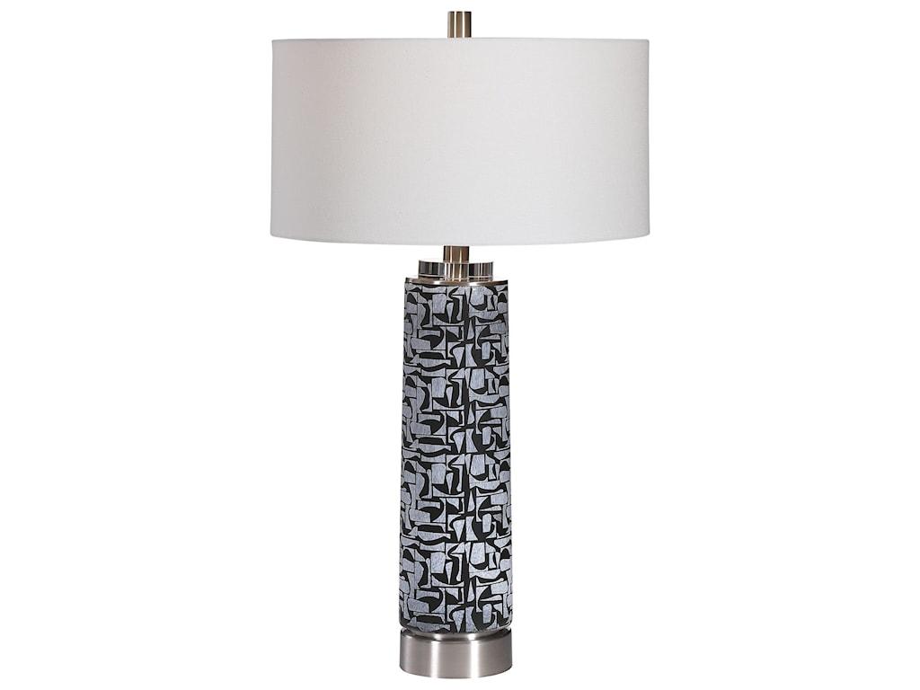 Uttermost Table LampsKramer Gray Black Table Lamp