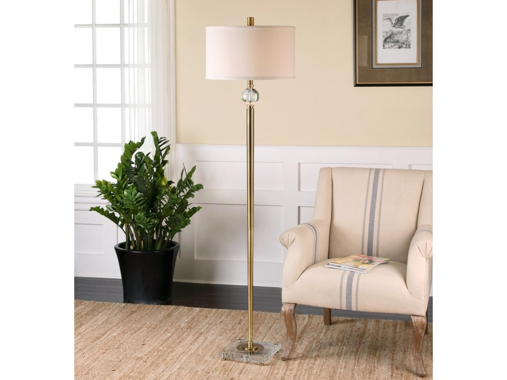 Uttermost Floor LampsMesita Brass Floor Lamp