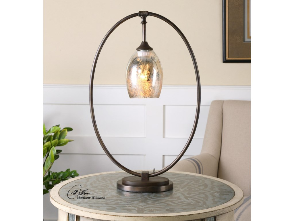Uttermost Accent LampsLemeta Oval Table Lamp