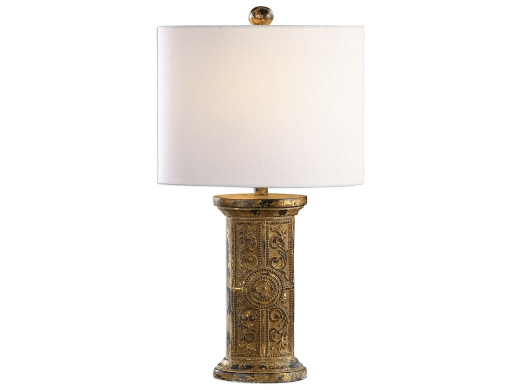Uttermost Table LampsLatina Antiqued Gold Lamp