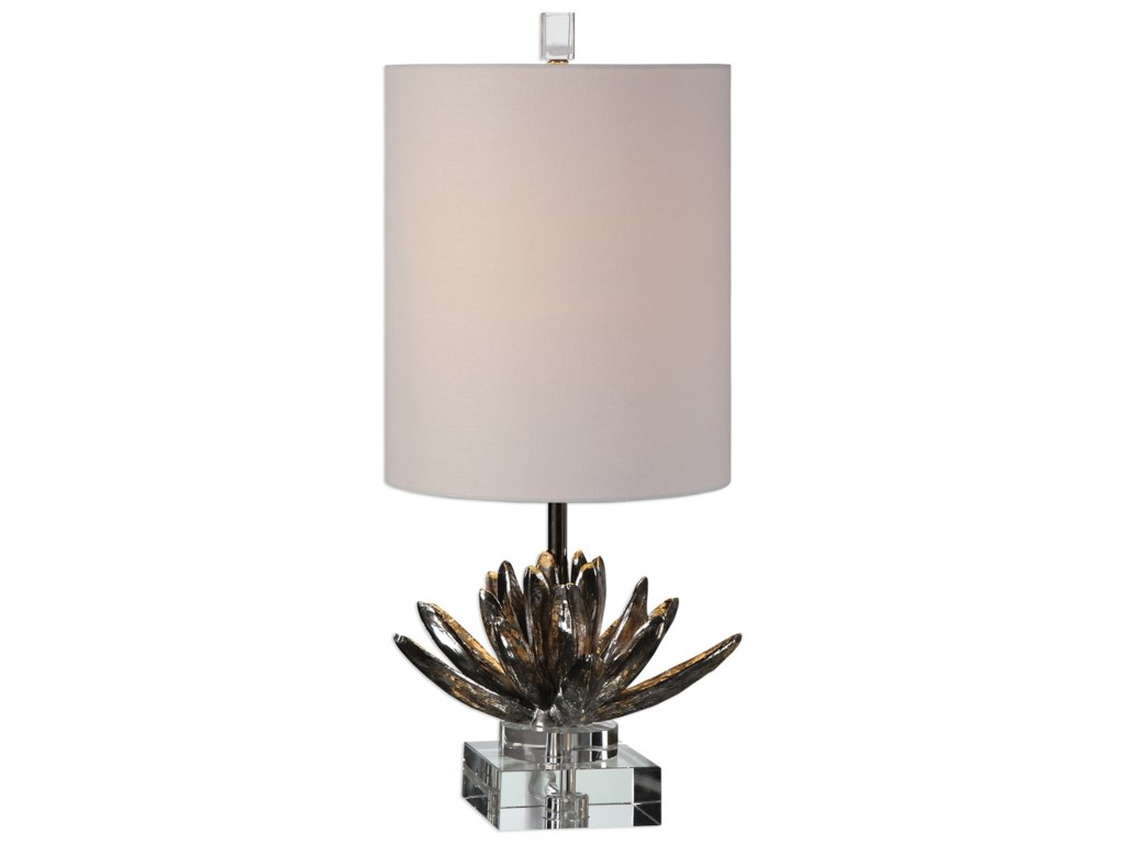 Uttermost Accent Lamps Silver Lotus Accent Lamp