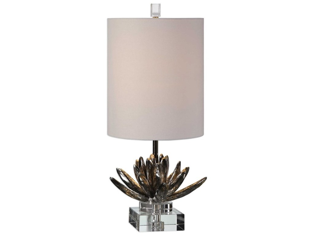 Uttermost Accent LampsSilver Lotus Table Lamp