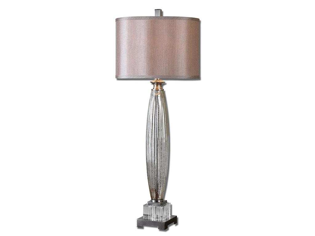 Uttermost Buffet LampsLoredo Mercury Glass Table Lamp