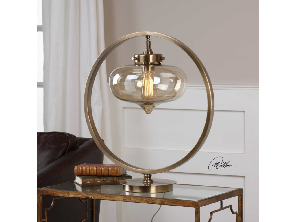 Uttermost Accent LampsNamura Antiqued Brass Accent Lamp