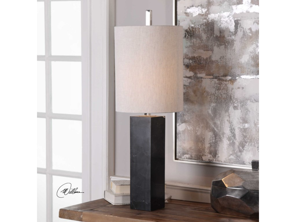 Uttermost Buffet LampsDelaney Marble Column Accent Lamp