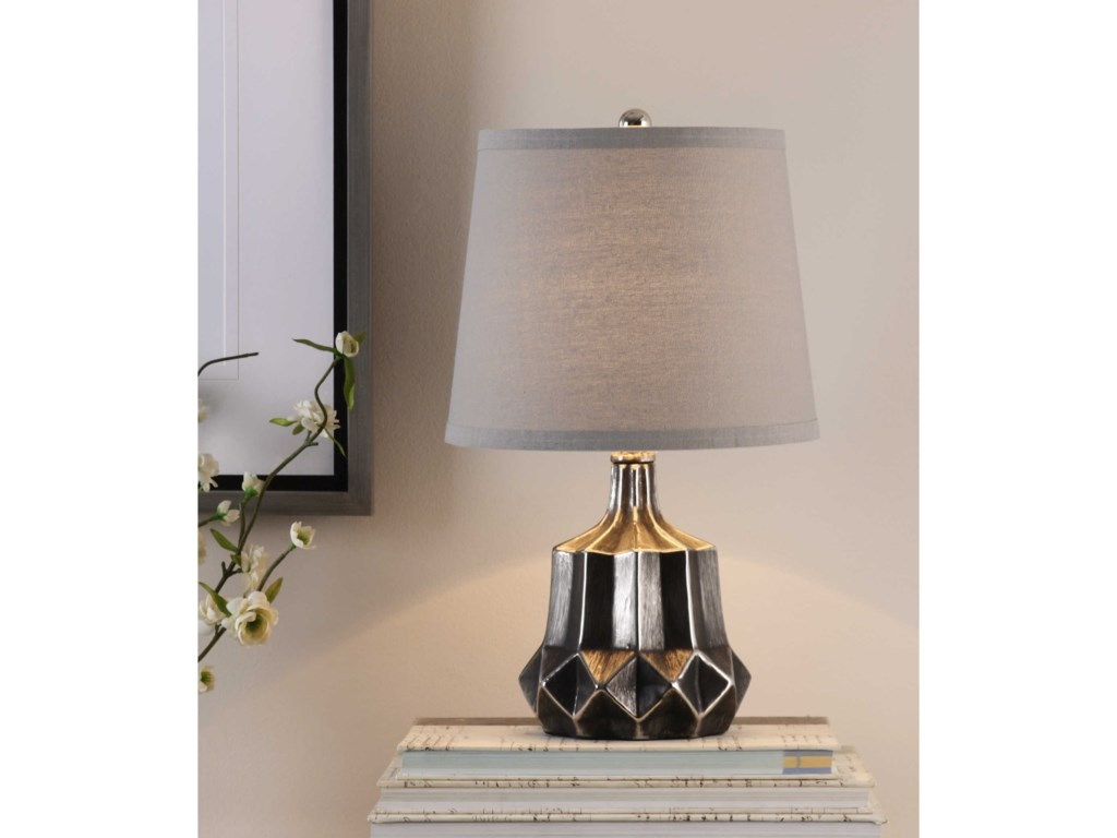 Uttermost Accent LampsFelice Dark Charcoal Accent Lamp