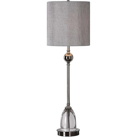 Gallo Nickel Buffet Lamp