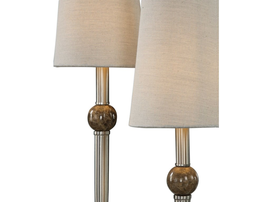 Uttermost Accent LampsClaret Nickel 2 Light Lamp