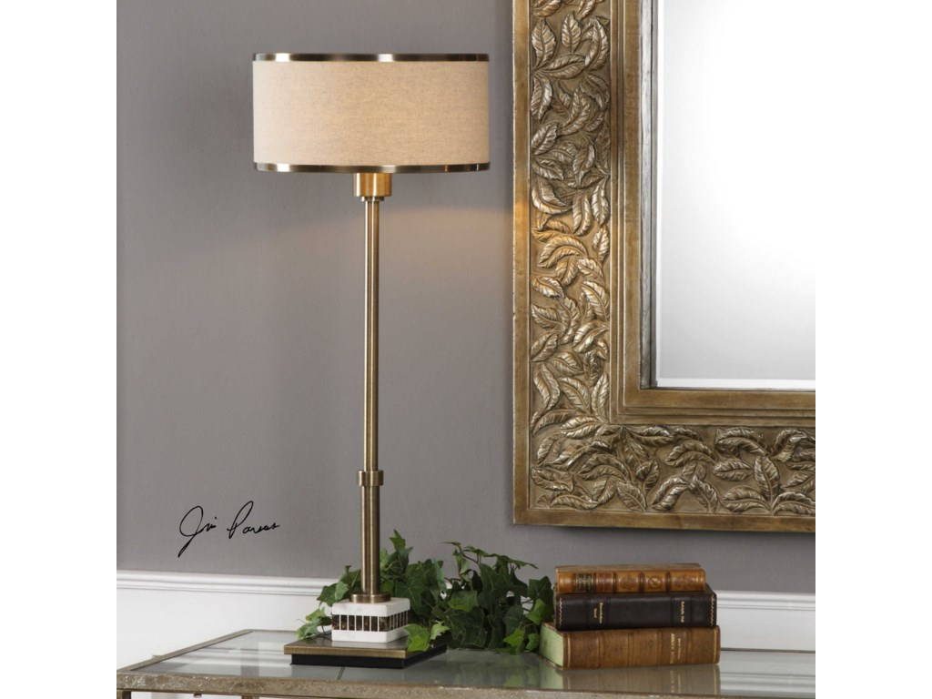 Uttermost Table LampsKoronia Antiqued Brass Lamp