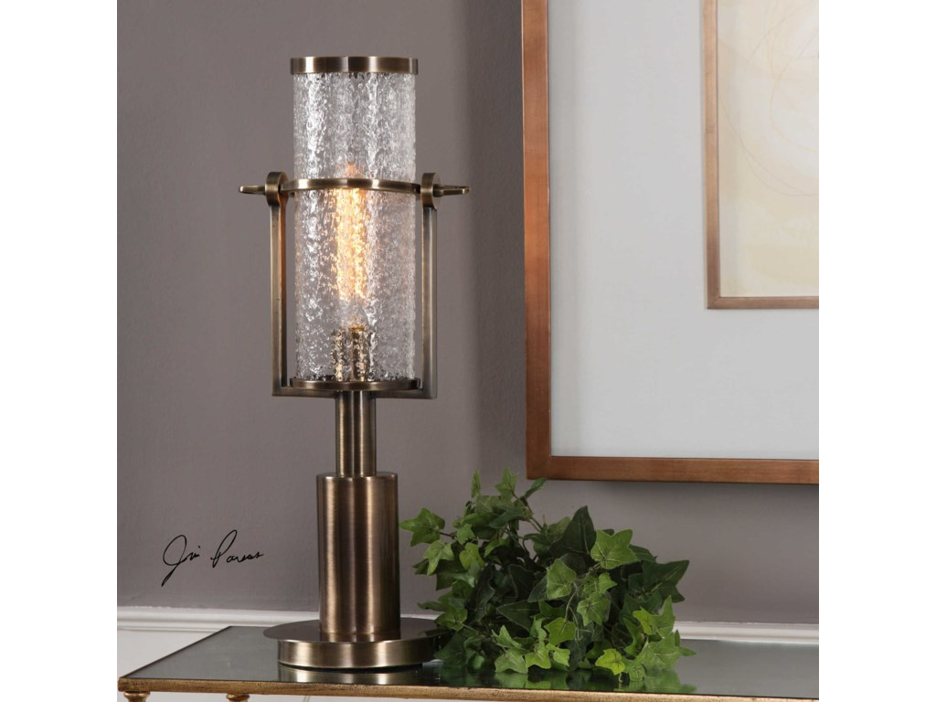 Uttermost Accent LampsMarrave Stacked Iron Lamp