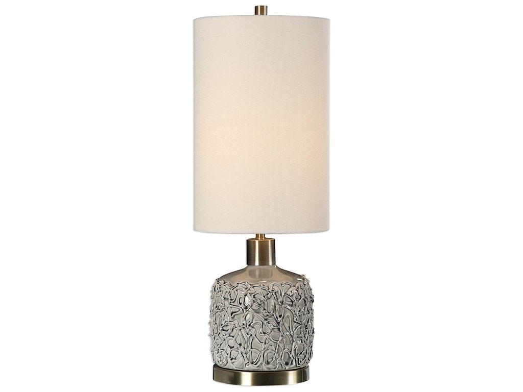 Uttermost Buffet LampsPrivola Gray Ceramic Lamp