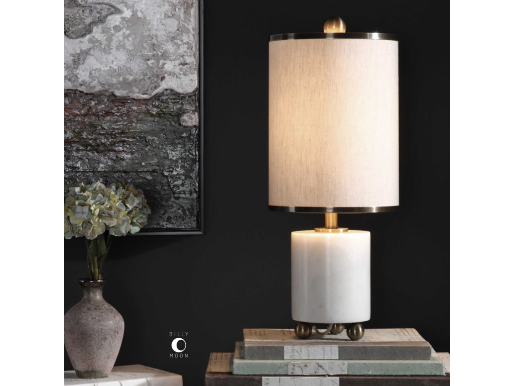 Uttermost Accent LampsMeelagh White Marble Lamp
