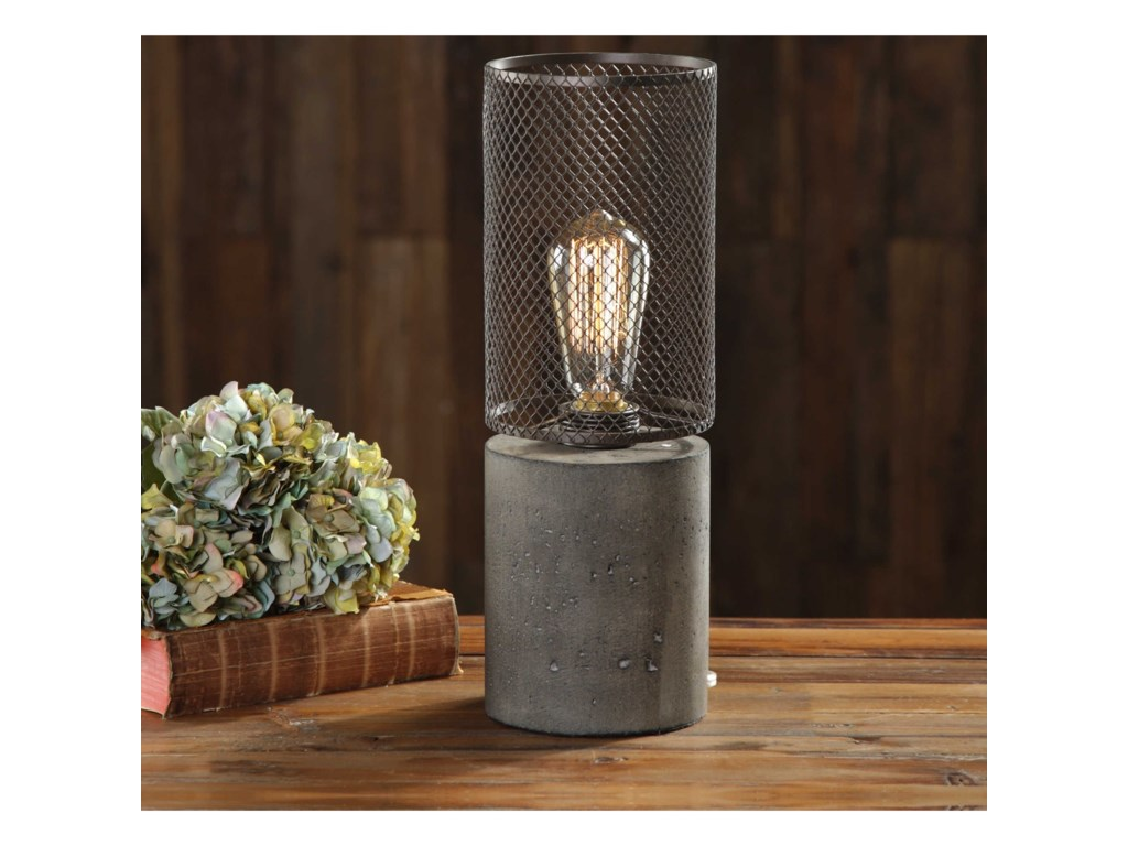 Uttermost Accent LampsLedro Thick Concrete Lamp