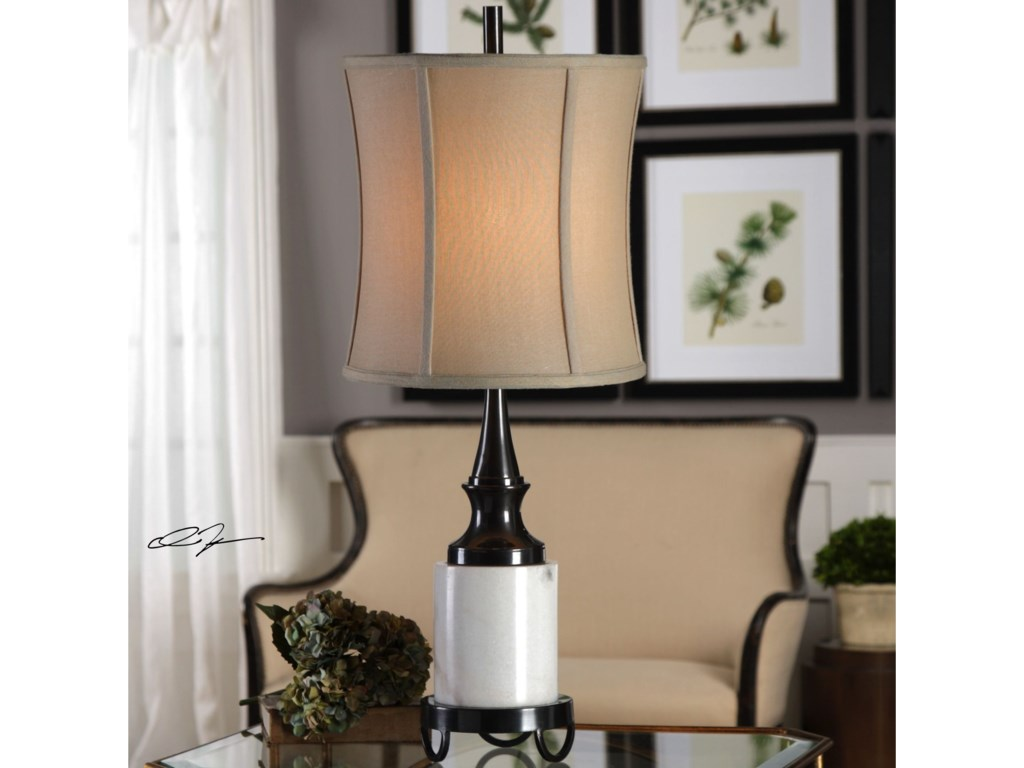 Uttermost Buffet LampsMolveno Ivory Marble Table Lamp