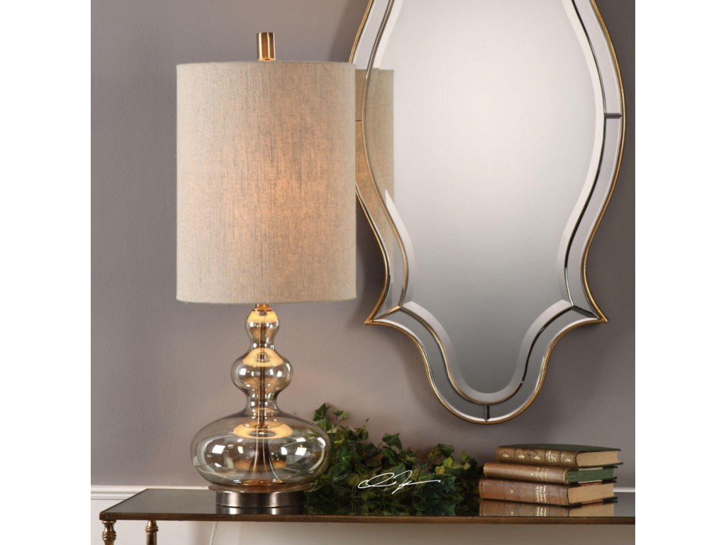 Uttermost Accent LampsFormoso Amber Glass Table Lamp