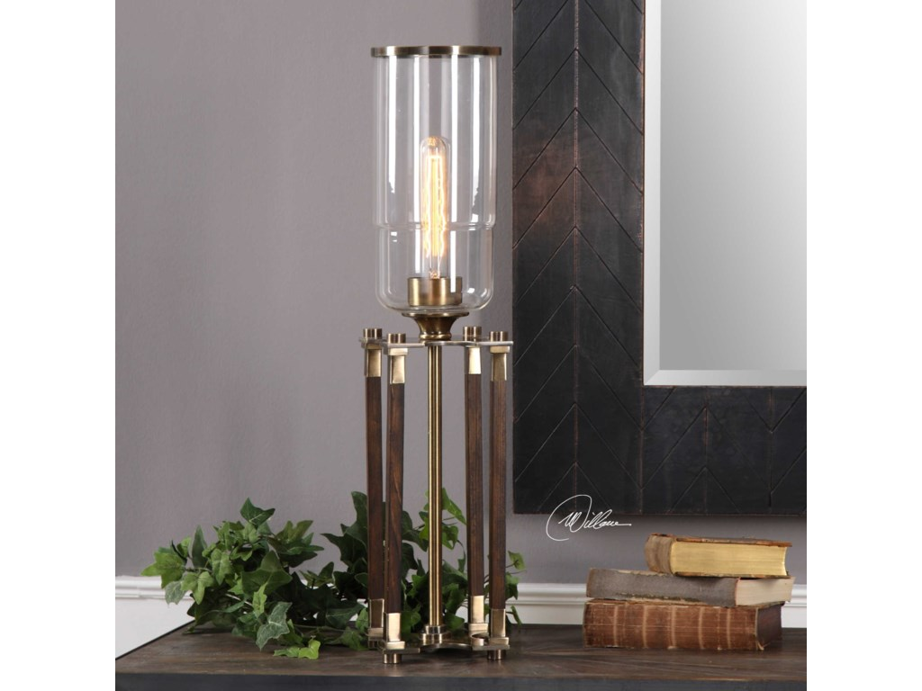 Uttermost Accent LampsRostand Wood Column Lamp