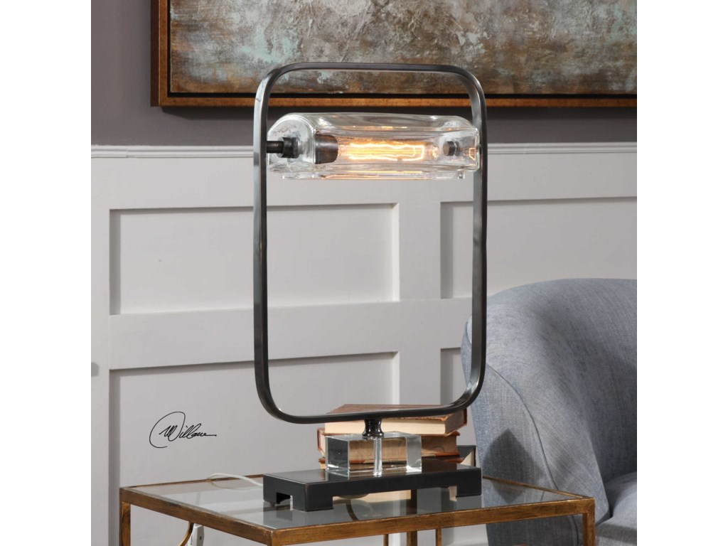 Uttermost Accent LampsPilato Iron Industrial Lamp