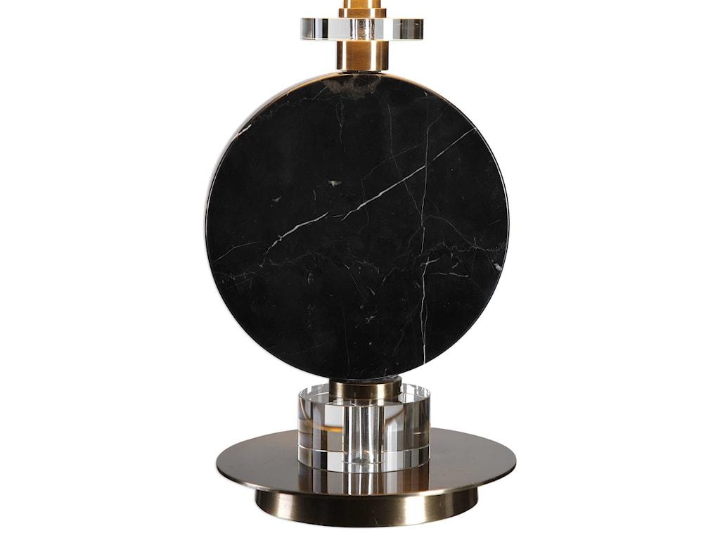 Uttermost Buffet LampsMorena Black Marble Lamp