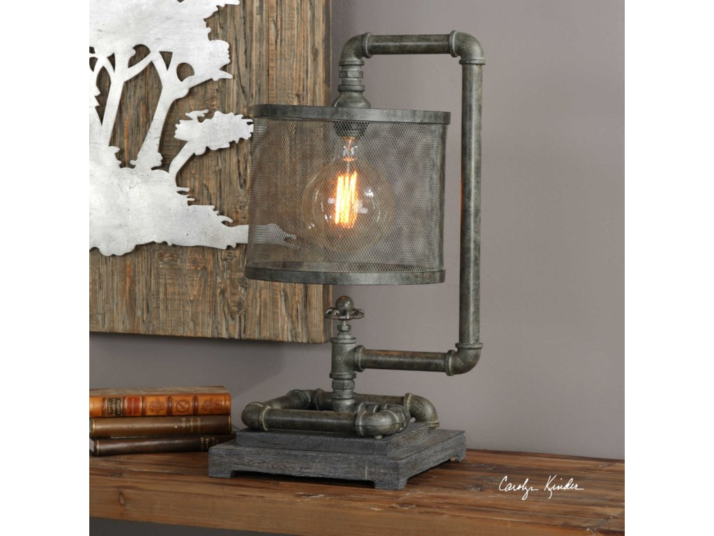 Uttermost Accent LampsBristow Industrial Pipe Lamp