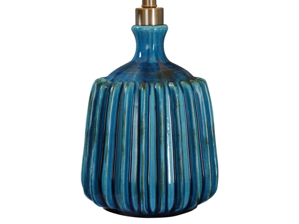 Uttermost Accent LampsAmaris Blue Ceramic Lamp