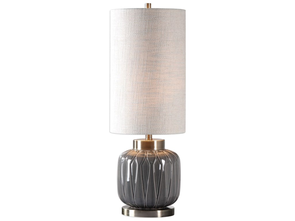 Uttermost Buffet LampsZahlia Aged Gray Ceramic Lamp